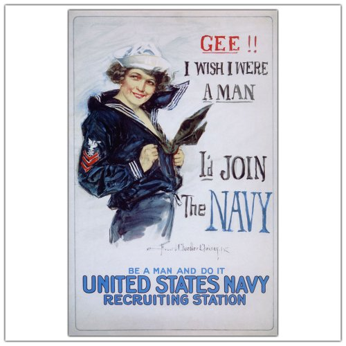 picture of Trademark Fine Art US Navy Woman by Howard Christy Canvas Wall Art, 24x32-Inch