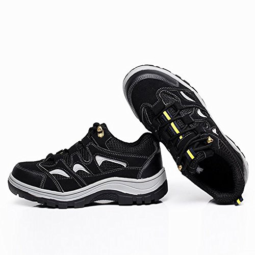 Work Optimal Toe Comp Shoes Shoes Gray Black Safety Shoes Men's Steel Z0Hr0ntx