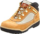Timberland Leather and Fabric Field Boot (Toddler/Little Kid/Big Kid),Wheat,6 M US Big Kid