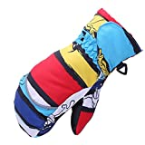 Qianle Children Waterproof Warm Gloves Windproof Kids Thickened Riding Gloves Multicolor S