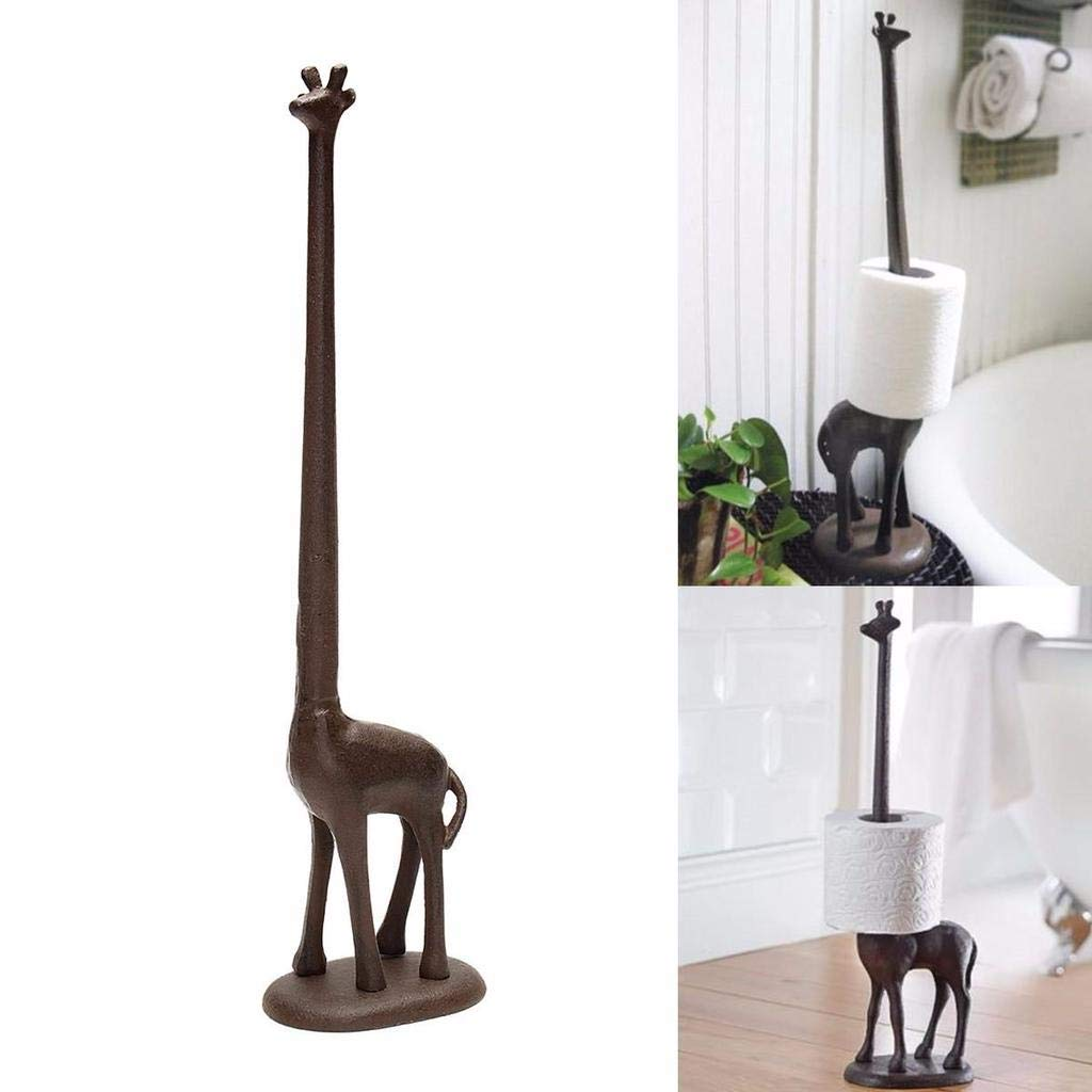 YIGEYI Standing Metal Giraffe Toilet Paper Roll Tissue Dispenser Storage Holder Stand The Perfect one for You