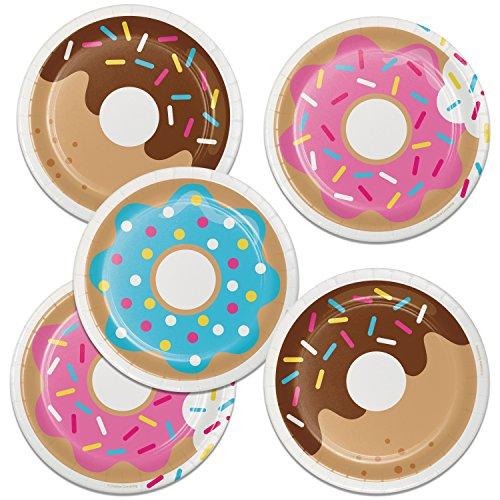 Creative Converting Donut Time Dessert Plates, 24 ct ()