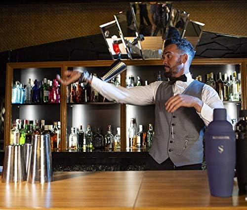 Exklusiver Boston Cocktail Shaker - Gold - Professionelles Set mit vollem Gewicht, Präzisions-Jigger, 2 vielseitigen Untersetzern und Rezepten – Um Ihre schönsten Momente zu garantieren