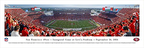 San Francisco 49ers - Inaugural Game at Levi's Stadium - Blakeway Panoramas Unframed NFL Posters