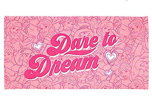Disney Princess Dare To Dream Pink Beach Towel