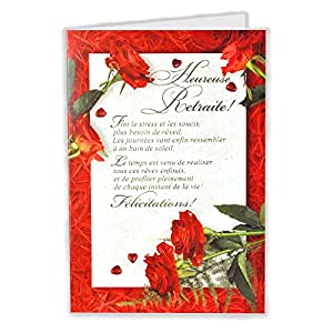 Amazon.com : Afie 35-761 Start Happy Retirement Card - Red ...