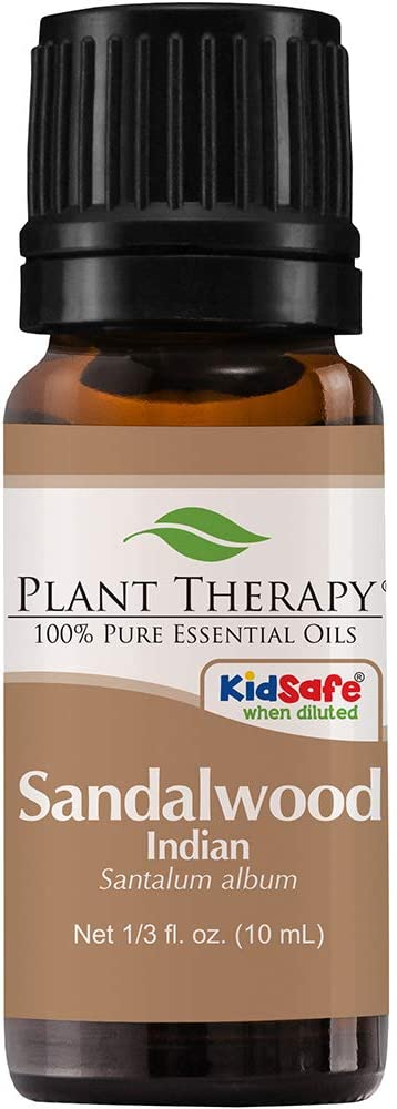 Plant Therapy Sandalwood Indian Essential Oil 10 mL (1/3 oz) 100% Pure, Undiluted, Therapeutic Grade