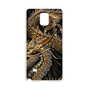Durable Material Phone Case With Dragon Image On The Back For Samsung Galaxy Note 4