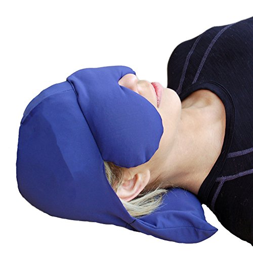 Sinus Pressure & Migraine Headache Relief Cap and Eye Mask - Deep Penetrating Herbal Ice hat for Hot or Cold Sinus Pain ()