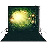 Allenjoy 5x7ft photography backdrops secret garden enchanted forest spring or summer woods stone path Birthday party banner photo studio booth background newborn baby shower photocall