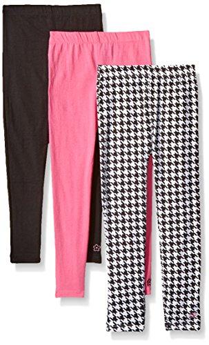 Limited Too Big Girls' 3 Pack: Leggings, Printed/Aurora Pink/Black, 14/16 Black / Aurora Pink