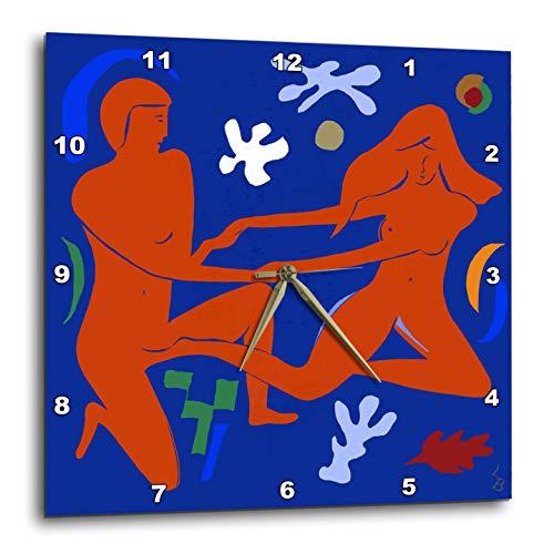 - Minimalist - Closeness in Blue and Terra-cotta Colors - 10x10 Wall Clock (dpp_288717_1) ()