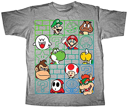 Youth: Super Mario Bros- Cast Wall Kids T-Shirt Size YS