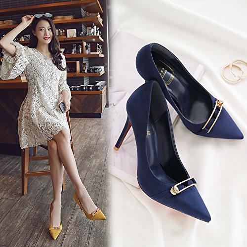 ragazza la per scarpe Choo tacchi in con estate solo centimetri i scarpe 6 raccontare bella rosa nero scarpe sottolineato alti donna ha 39 wild qwPz8