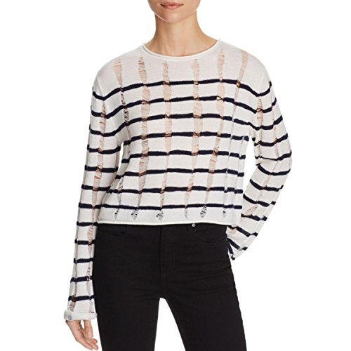 T by Alexander Wang Womens Pullover Crop Crop Top Ivory L by T by Alexander Wang