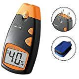 [Upgrade - 4 Steel Prods] Dr.Meter® MD814 LCD Display Digital Wood Moisture Meter - To Measure the Percentage of Water in Given Substance (Wood, Sheetrock, Carpets and More)