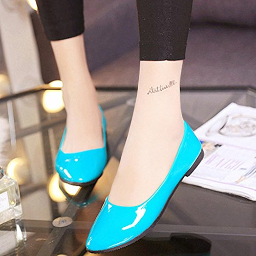 Ladies Loafers Shoes Fruit Sikye Casual On Women Flat Color Office Blue Slip Comfort Shoes qFxIxAwC