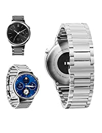 Zomtop 18mm Stainless Steel Butterfly Buckle Watch Band For Huawei Watch 2015(Silver)