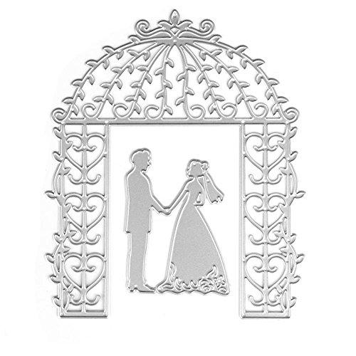 LIYUDL Wedding Bride Groom Cutting Dies Stencil Scrapbook Album Paper Card Embossing DIY Craft Tool