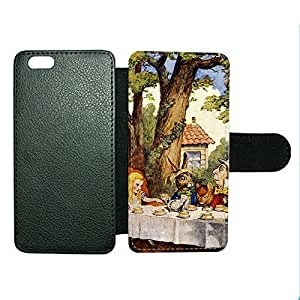 Case Fun Case Fun Alice in Wonderland Mad Hatters Tea Party Faux Leather Wallet Case Cover for Apple iPhone 6 4.7 inch