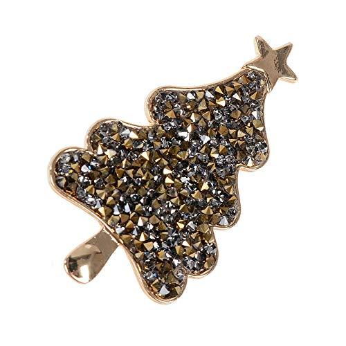 66 styles Christmas Tree Deer Bell Snowman Santa Enamel Brooch Pins Xmas Jewelry | StyleID - Christmas Tree #5