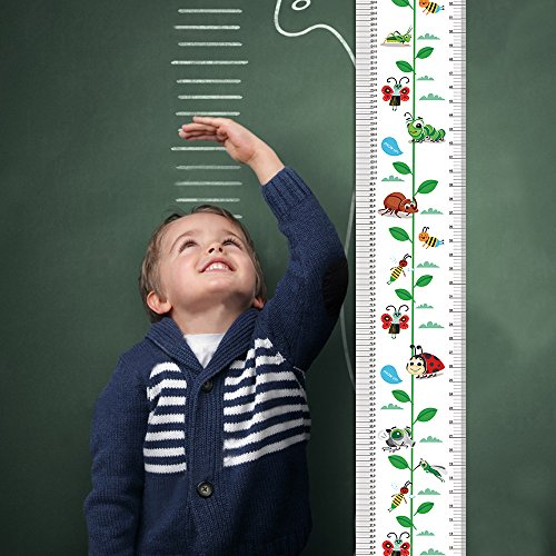 Decoration Measures - William white Growth Chart Height Growth Chart to Measure Baby, Child, Grandchild kids ruler Height Measure Chart Wall Decoration Growth Ruler Gift (white)