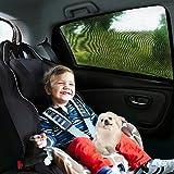 Aodoor (2er-Pack) Sonnenschutz Auto für Kinder, Hunde und Babys , Sonnenblende Autos blockt mehr als 97% der schädlichen UV-Strahlung, Seitenscheibe Autosonnenschutz passt universell