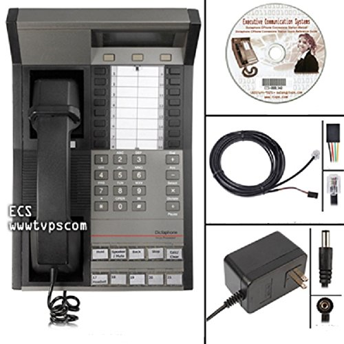 Dictaphone 0421 C Phone Dictation Transcriber Telephone with Adapter and Remote Mic by Dictaphone