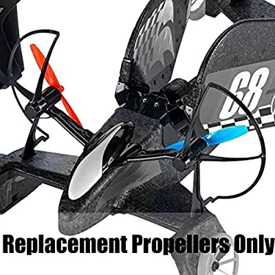 Hot Wheels RC Sky Shock DNM63 - Includes 2 Pairs of Replacement Propellers - 2 Red and 2 Blue: Toys & Games