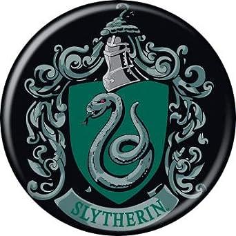 Amazon.com: Harry Potter - Slytherin Crest - Pinback ...