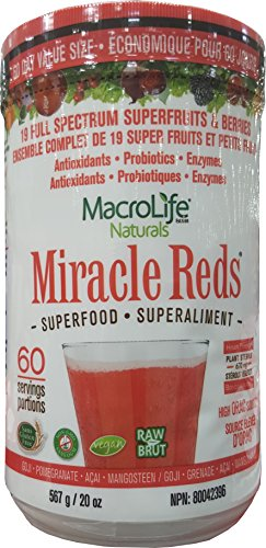 (Miracle Reds Superfood 60 Day Supply (20 Ounces) - MacroLife Naturals - Powerful Antioxidant Blend )