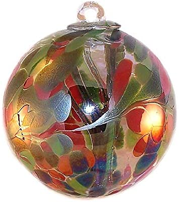 """Small Witch Ball """"Sentinel"""" Iridized by Iron Art Glass Designs"""