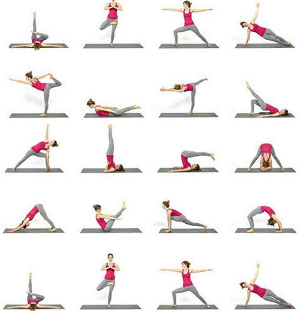 Kloius Durable Port/átil S/ólido Antideslizante Suave Estera de Yoga de Fitness Plataformas de Equilibrio