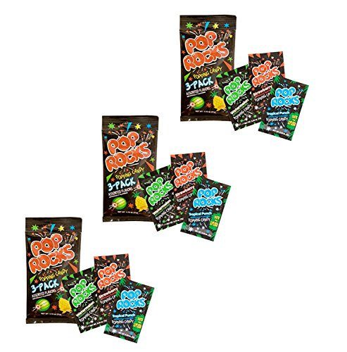 Pop Rocks Popping Candy 3-Pack - Watermelon, Strawperry Tropical Punch (9 Paks Total)]()