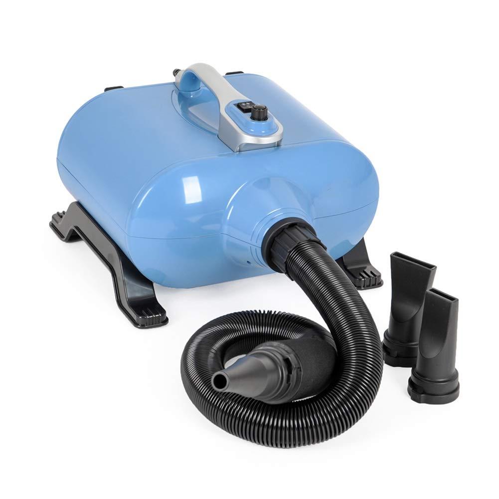 Asciugacapelli, 2400W Pet Grooming Asciugacapelli Essiccatore A Basso Rumore Blaster con Riscaldatore A Temperatura Regolabile A 2 velocità Blu