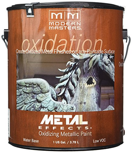 Modern Masters (MODF6) ME208GAL Modern Masters Metal Effects Paint, Gallon, Iron (Best Metal Rust Paint)