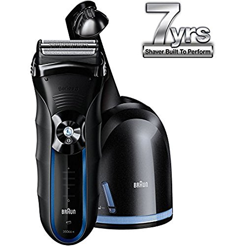 Braun 350cc 4 Shaver Black Blue