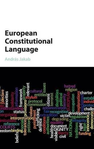 European Constitutional Language by Cambridge University Press