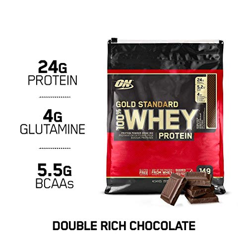 (OPTIMUM NUTRITION GOLD STANDARD 100% Whey Protein Powder, Double Rich Chocolate, 10 Pounds Bags)
