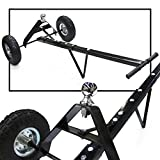 GHP 600Lbs Capacity 1-7/8'' Chrome Hitch Ball Trailer Dolly with Pneumatic Tires