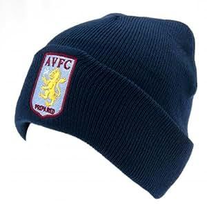 Aston Villa FC Official Crest Navy Knit Hat TU