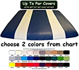E-Z-Go Club Car Yamaha Two Stripe Golf Cart Custom Vinyl Canopy Cover, Covers Existing Hard Top - (cover only, not hard top) Choose your model and color from colorchart