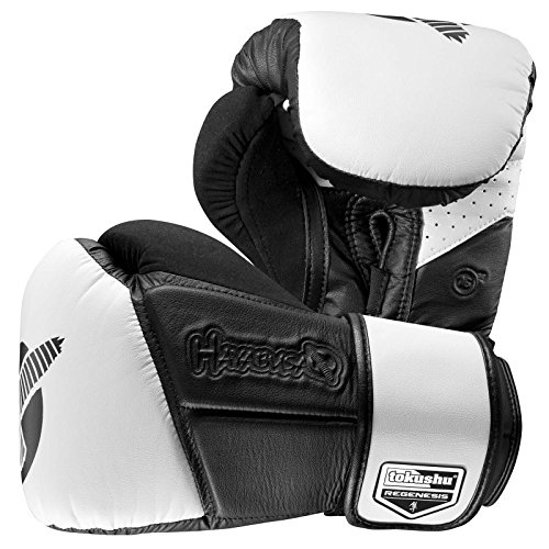 Hayabusa Fightwear Tokushu Regenesis 16oz Gloves, Black/White, 16 oz.