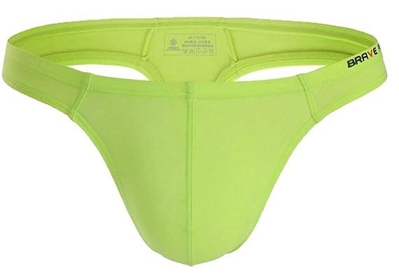 949d551eb463 Image Unavailable. Image not available for. Colour: Alion Men's Gym Sports  Low Rise Briefs Pouch Thong Underwear ...