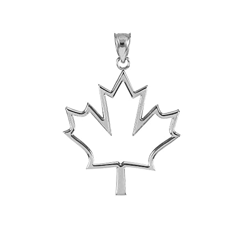 925 sterling silver open design maple leaf necklace pendant 925 sterling silver open design maple leaf necklace pendant mozeypictures Gallery