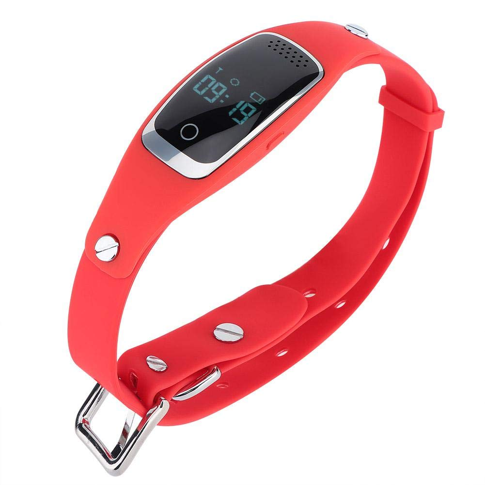 Red Pet Tracker Waterproof Anti-Lost GPS Locating Pet Tracking Collar Mini USB Charging Smart Pet GPS Locator with Various Working Modes(Red)