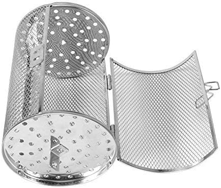 Stainless Steel,Grill Oven Roaster Tumble Peanut Beans Basket BBQ Rotisserie