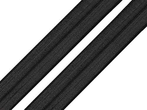 Grau Wei/ß Schr/ägband Faltgummi Faltgummi Saumband Elastik freneci 2 STK x 10m Elastisches Einfassband 20mm gefaltet