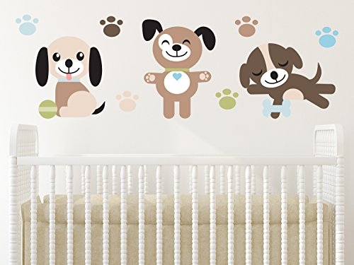 Sunny Decals Puppy Dogs Fabric
