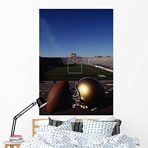 Notre Dame Football Helmet Wall Mural Wallmonkeys Peel and Stick Graphic (60 in H x 42 in W) WM325739